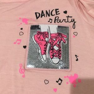 Justice Dance Theme Cold Shoulder Tee Size 10